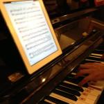 ipadに楽譜を表示して演奏してみたら